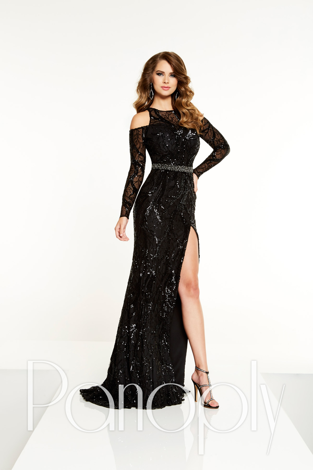 Panoply 14868 is available in Black and in sizes 0-30.
