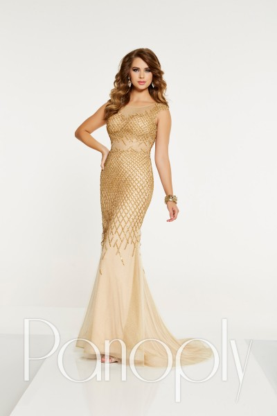 Panoply 14901 is available in Gold, Silver and in sizes 0-30.