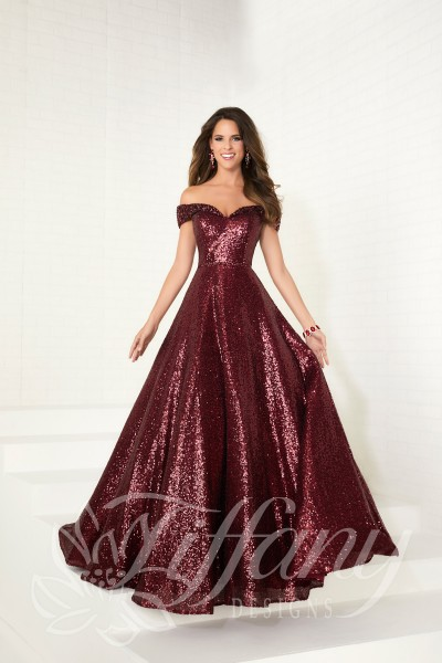 Tiffany 16303 is available in Black, Rose Gold, Wine and in sizes 0-30.