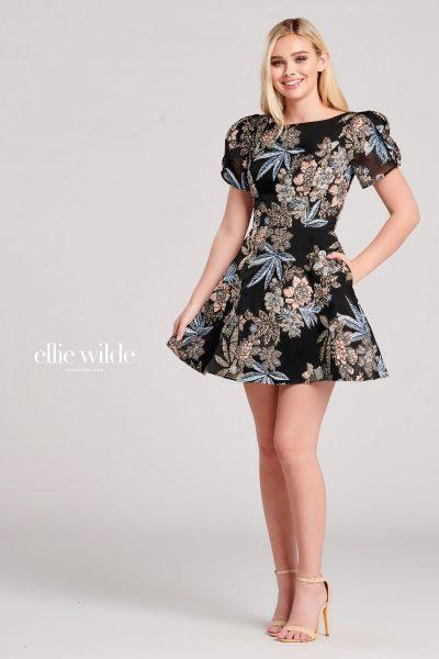 Ellie Wilde EW22008S Puff-Sleeve Prom Dresses