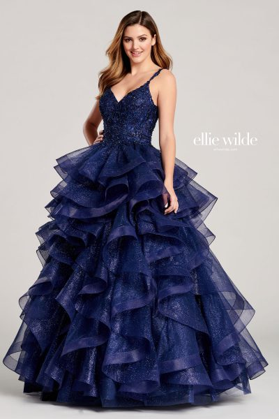 Ellie Wilde EW22056 Sleeveless Prom Dresses