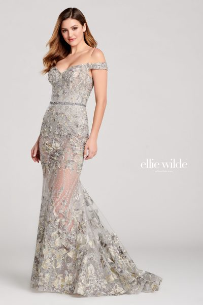 Ellie Wilde EW22027 Off the Shoulder Prom Dresses