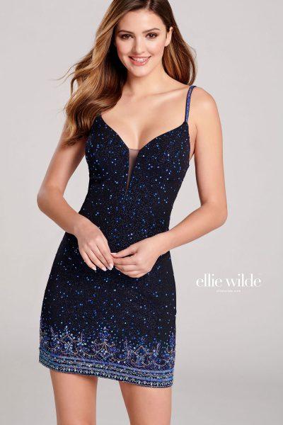 Ellie Wilde EW22050S Sleeveless Prom Dresses