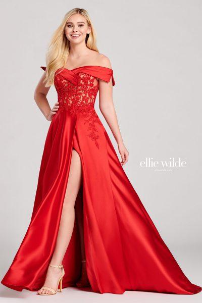 Ellie Wilde EW22012 Off the Shoulder Prom Dresses