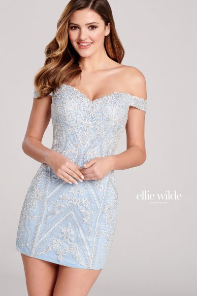Ellie Wilde EW22043S Off the Shoulder Prom Dresses