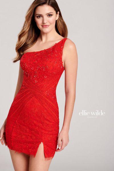 Ellie Wilde EW22013S One Shoulder Prom Dresses