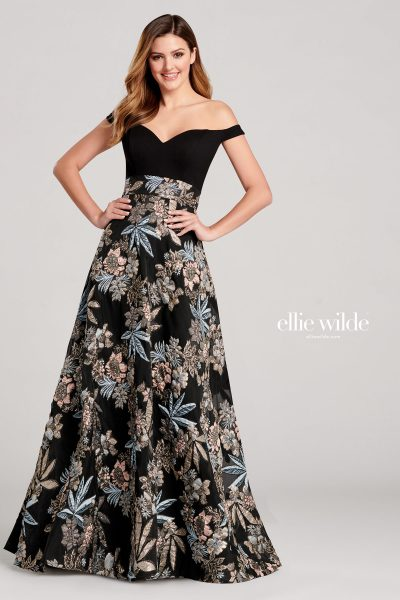 Ellie Wilde EW22009 Off the Shoulder Prom Dresses