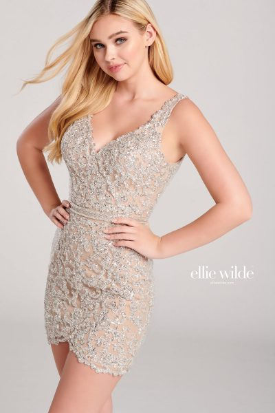 Ellie Wilde EW22032S Sleeveless Prom Dresses