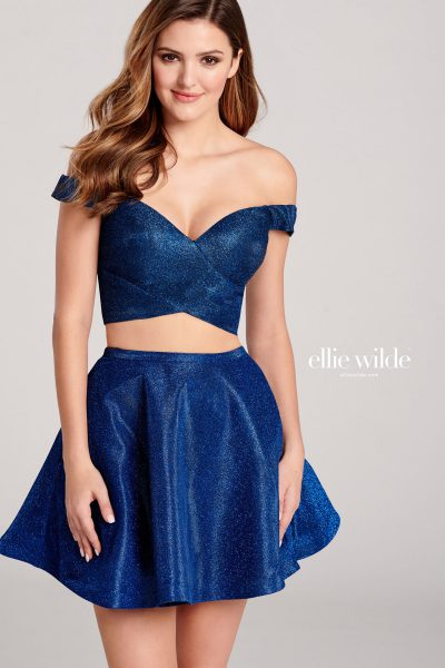 Ellie Wilde EW22018S Off the Shoulder Prom Dresses