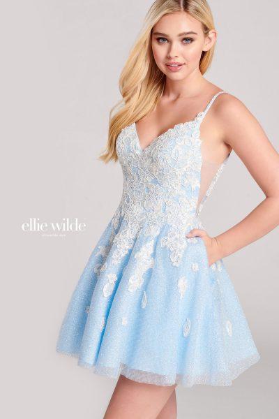 Ellie Wilde EW22044S Sleeveless Prom Dresses