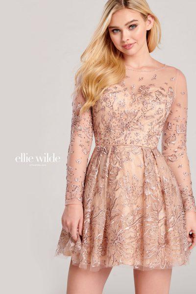 Ellie Wilde EW22062S Long Sleeve Prom Dresses