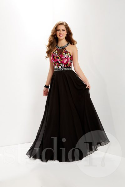 Studio 17 12651 is available in Black Multi, Fuchsia Multi, Ivory Multi and in sizes 0-30.
