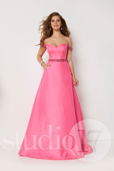 Studio 17 12660 is available in Hot Pink, Sky Blue and in sizes 0-30.