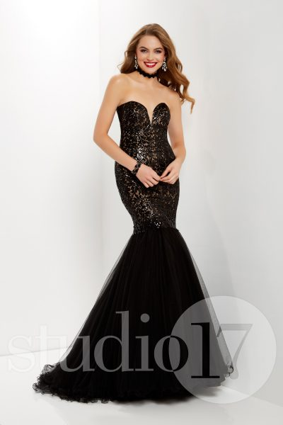 Studio 17 12662 is available in Black Nude, Ivory Nude and in sizes 0-30.