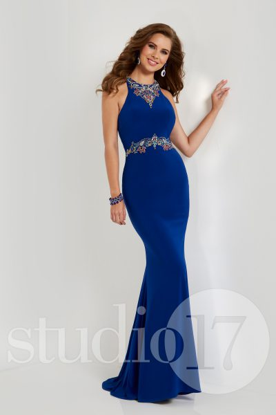 Studio 17 12669 is available in Black Multi, Royal Multi and in sizes 0-30.
