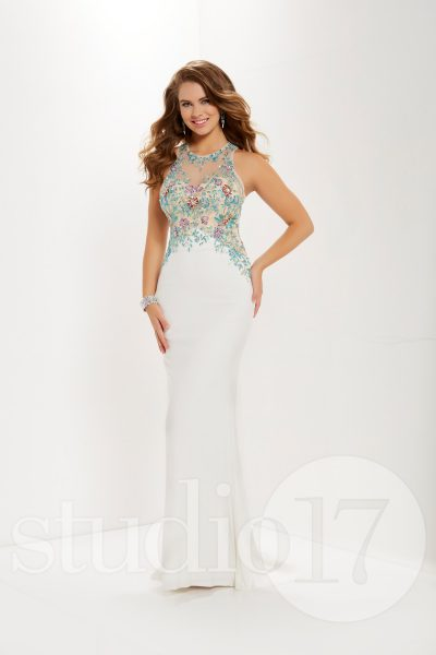 Studio 17 12680 is available in Black Multi, Ivory Multi and in sizes 0-30.