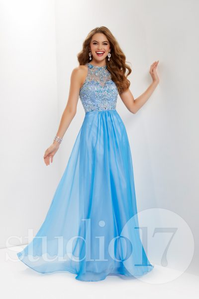 Studio 17 12681 is available in Party Pink, Periwinkle and in sizes 0-30.