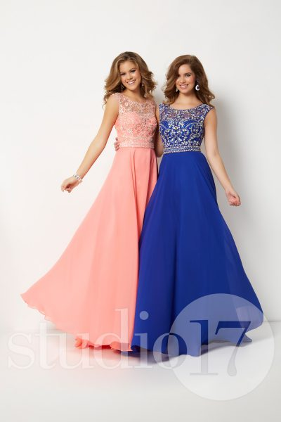Studio 17 12696 is available in Royal, Sherbet and in sizes 0-30.