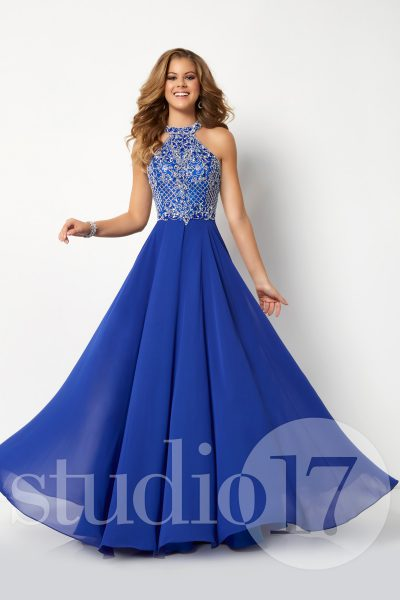 Studio 17 12698 is available in Royal, Shocking Pink, White and in sizes 0-30.